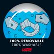 100% removible y lavable